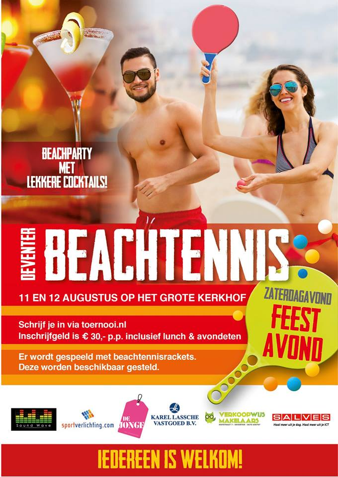 Beachtennis in Deventer!