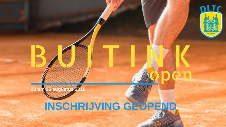 """Inschrijving voor DLTC """"Buitink Sport 2000 open"""" is online"""