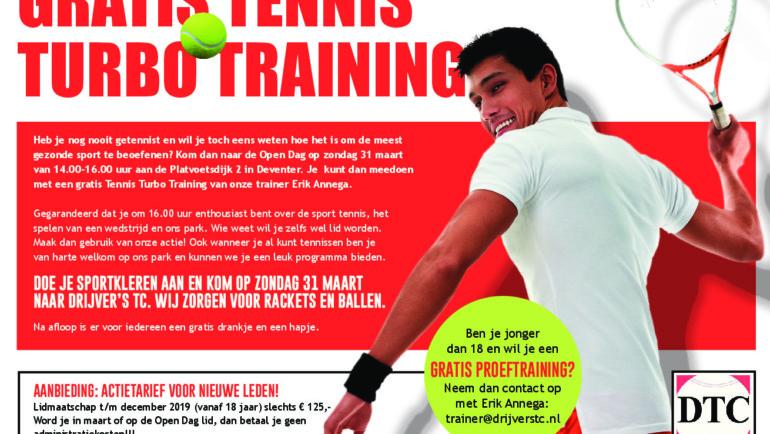 Open Dag Drijver's TC met gratis Tennis TurboTraining